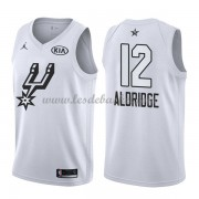 Maillot NBA Pas Cher San Antonio Spurs LaMarcus Aldridge 12# White 2018 All Star Game Swingman..